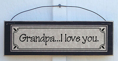 Sign For I Love You (Grandpa I Love You - Father's Day Gifts Signs & Plaques for)