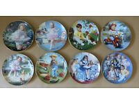 Perfect Full Set Of 8 Danbury Mint Children of the Week Plates Collectors Rare - Can post for extra