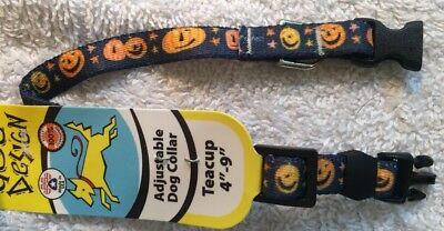 Happy Halloween Pumpkin Designs (Halloween Happy Pumpkin Print Teacup Dog Collar (4