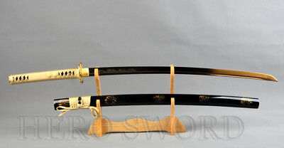 Traditional Handmade Gold Dragon Japanese Samurai sword High Carbon Steel Katana