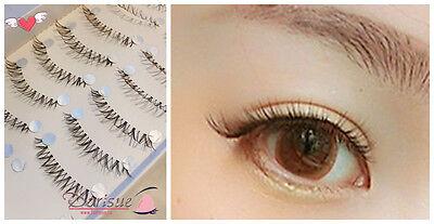 R18 Super Natural 10 Pairs Short False Eyelash women Lady 10