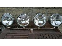 Vintage Satuga Classic mini front mounted rally spotlights