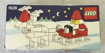 LEGO Seasonal Christmas 1628 Santa On Sleigh With Reindeer (from 1989)