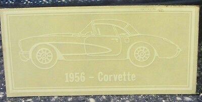 1956 Chevy Corvette Window Decal