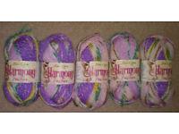 500g James C Brett Harmony Chunky Knitting Yarn - Purple