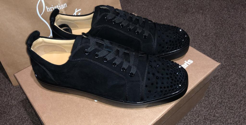 the latest 8073f be3a6 Christian Louboutin Black suede strass diamond low tops trainers (Red  bottoms,Gucci) | in Sheffield, South Yorkshire | Gumtree