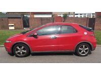2007 RED HONDA CIVIC 1.8L SE 5DOOR £1900 ONO