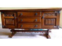 Old charm Wood Bros Oak Sideboard