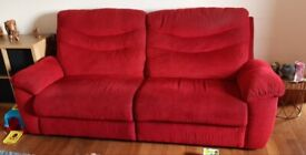 3 and 3 seater sofa with storage Pouffe