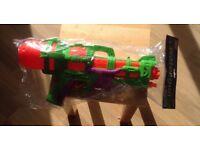 Orange and Green Toy Water Gun