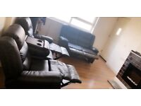 Two Recliner sofas, Two seater and Three with the middles cinema set up no time waisters please!