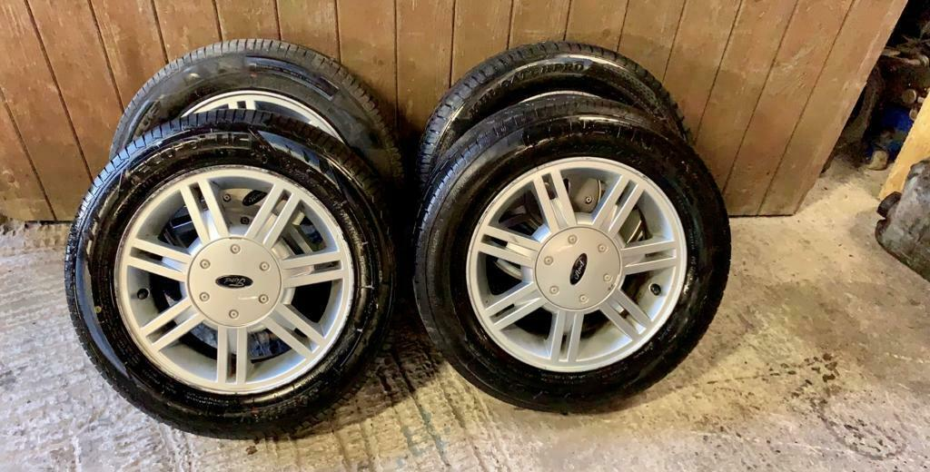 """Ford 14"""" fiesta alloy wheels and tyres 4x108 fusion,ka,escort,clio,206,106  