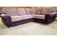 Corner Sofa - Brown. Local delivery available