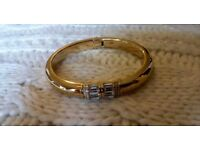 Michael Kors Steel Baguette Gold-Tone Bracelet