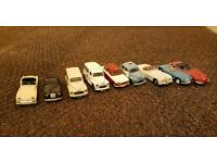 9 corgi cars