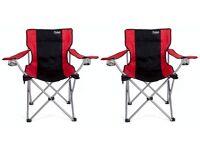 Pair of Chaheati All Season Heated Chairs (Red & Black) - Brand New