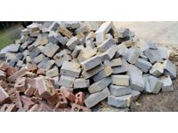 Light weight building blocks ready to pickup