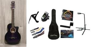 Christmas Gift ! Free Full Package Acoustic Guitar For Kids, Children, Beginners iMusic805 Purple