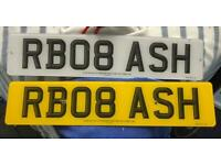 Private Number plates RB08 ASH