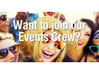 Looking for confident and out going event freelance staff nationwide!