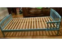 Free Blue Toddler Bed Frame