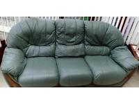 Green 2 three seater sofa