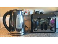 Swan kettle and toaster set stainless steel