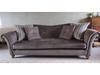 "Grand Sofa ""Etienne"" in Textured fabric plus scatter cushions."