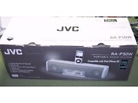 Brand New in box JVC RA-P50W portable audio system for ipod/iphone. Quick sale £15