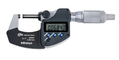 New Mitutoyo Digital Micrometer 293-344-30 0-10-25.4mm Ip65