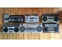 Vintage retro 80s ghetto blaster/tape/boom box/stereo collection