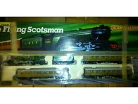 Hornby flying scotchman train set