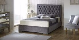 Branded High End Hilton Crushed Velvet Ottoman Storage Bed - OVER 70% OFF! FREE UK DELIVERY