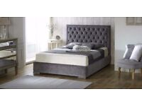 Branded High End Hilton Crushed Velvet Ottoman Storage Bed - OVER 70% OFF! FREE UK DELIVERY