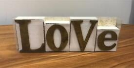 Wooden Love Blocks.
