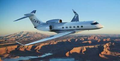Gulfstream G500 Twin Engine Business G-500 Airplane Desktop Wood Model Small New for sale  Shipping to Canada