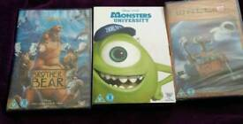 New and Sealed! Brother Bear, Monsters University and Wall-E Disney DVDs
