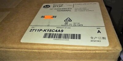 New Sealed Allen-bradley 2711p-k15c4a9 Panelview Plus 6 1500 Colorenetrs232