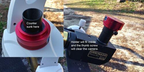 """PST solar telescope Low Profile focus adapter ZWO/QHC camera 1.25"""" to T2 - M42."""