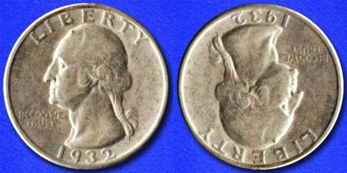 """Two Face """"Hobo Nickel"""" on Washington Quarter Coin **"""