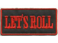 Let/'s Roll Biker badge Embroidered Iron Sew on Patch #1535