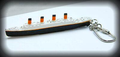 Rms Titanic Keychain Keyring Model Ship Charm Key Fob  White Star Line