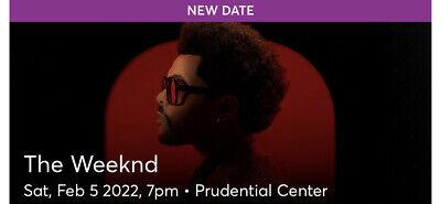 The Weeknd - Prudential Center, Newark, NJ (2Tix) SEC 211, SEAT 15, 16