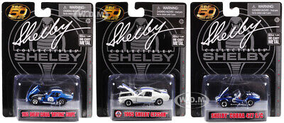 50th Anniversary Collectible - CARROLL SHELBY 50TH ANNIVERSARY 3 PC SET 1/64 CARS SHELBY COLLECTIBLES 16403 M