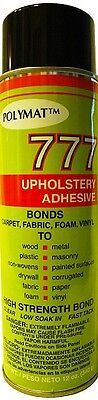 Polymat 777 PROFESSIONAL SPRAY GLUE ADHESIVE HIGH TACK BONDS FABRIC TO METAL (Bond Fabric Glue)