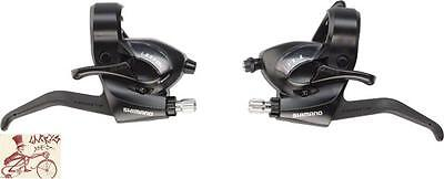 SHIMANO ST-EF41 RAPID FIRE 3 X 7 SPEED BLACK SHIFTER--LEVER W/ CABLES