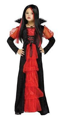 Largas para Chica Vampira Vampiro Disfraz de Halloween 4-12 Años