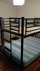 Wooden double bedframe & bunkbed for sale