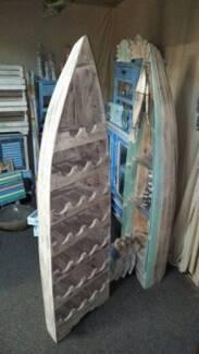 Timber Boat Wine Rack Storage Unit