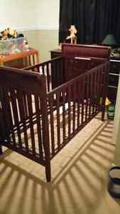 Solid wood Crib with spring bottom -3 adjustable height settings